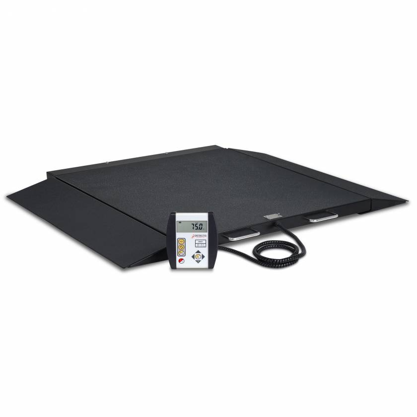 Detecto 6400 Portable Digital Wheelchair Scale with Model 750 Indicator