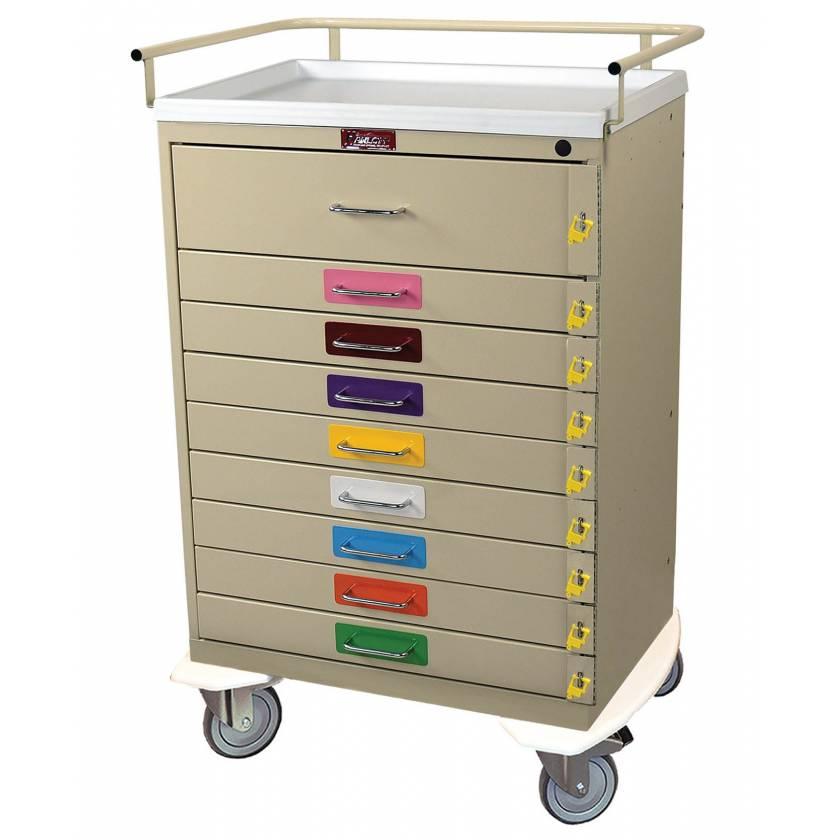 Harloff 6400PEC Classic Line 9 Drawer Individual Breakaway Locks Pediatric Emergency Cart