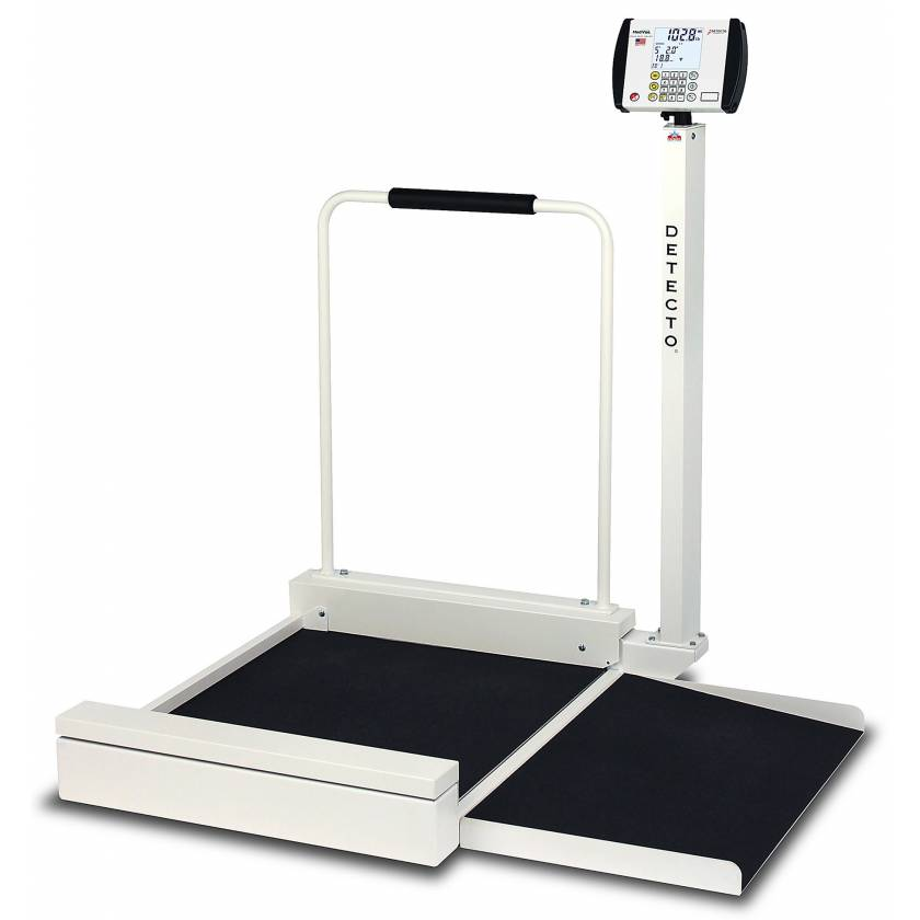 Digital Stationary Wheelchair Scale with Non-Skid Platform and Ramp