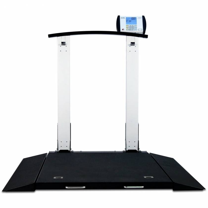 Detecto 6560 Folding Portable Digital Wheelchair Scale with Handrail