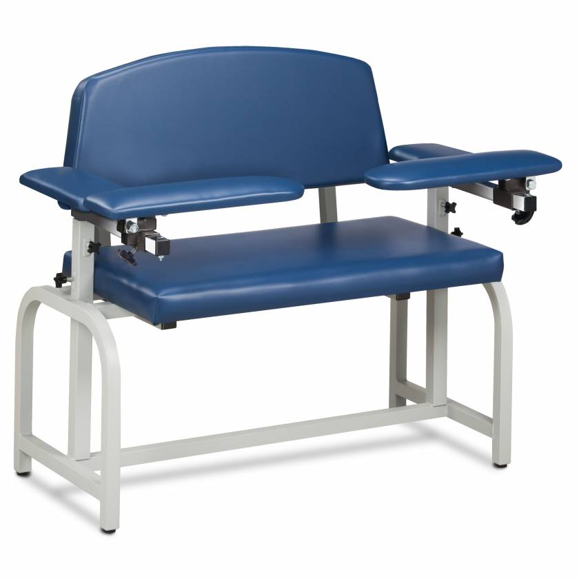 Clinton Lab X Series Extra-Wide Blood Drawing Chair with Padded Arms Model 66000