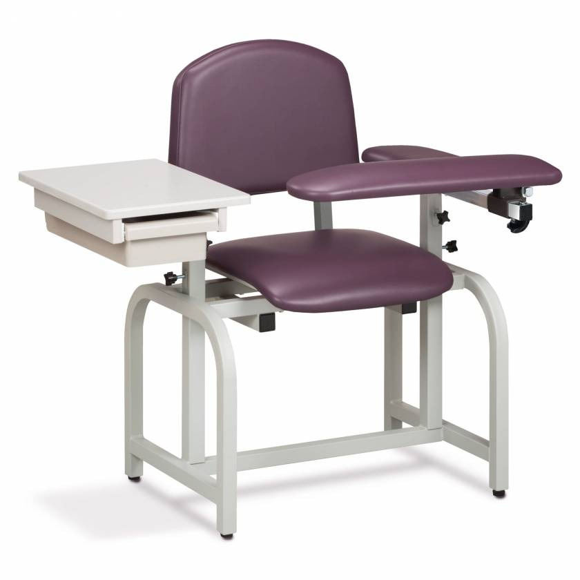 Clinton Lab X Series Blood Drawing Chair with Padded Flip Arm and Drawer Model 66020