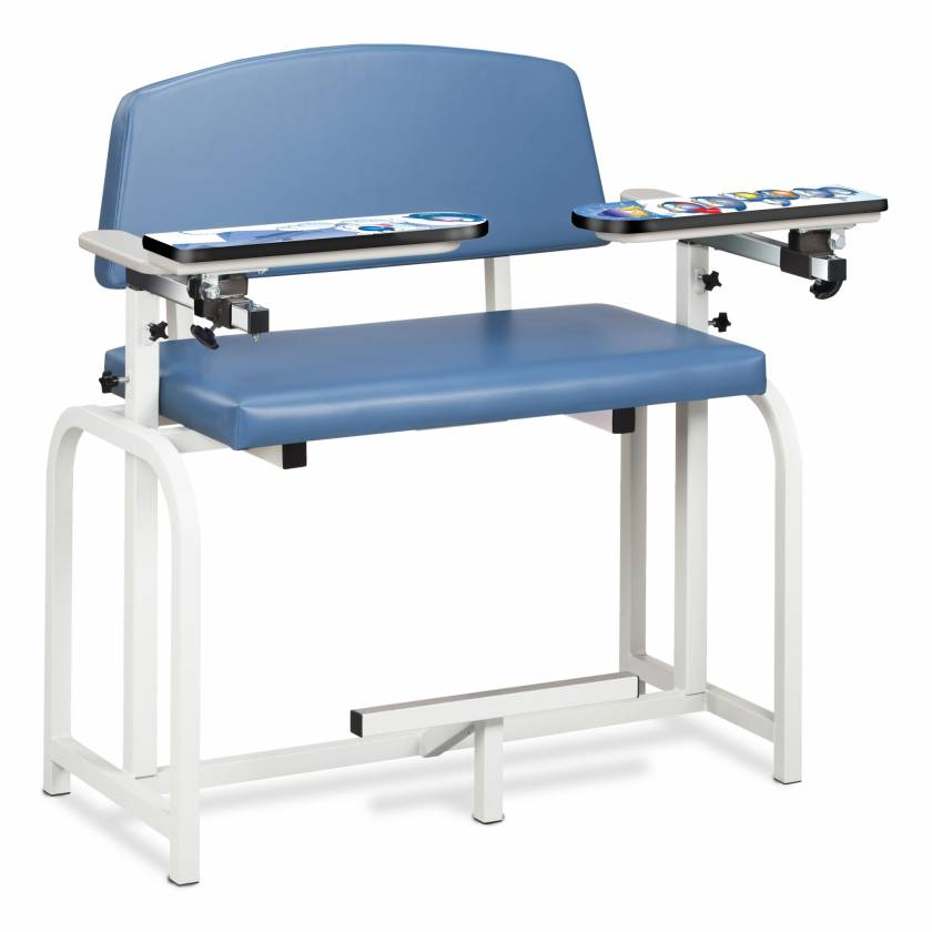 Clinton Pediatric Series Arctic Circle Extra-Wide Blood Drawing Chair with Flip Arms Model 66099-AC