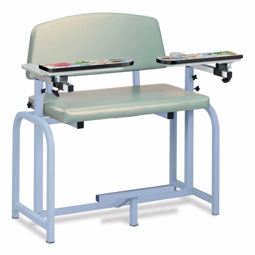 Clinton Pediatric Series Aquarium Extra-Wide Blood Drawing Chair with Flip Arms Model 66099-AQ