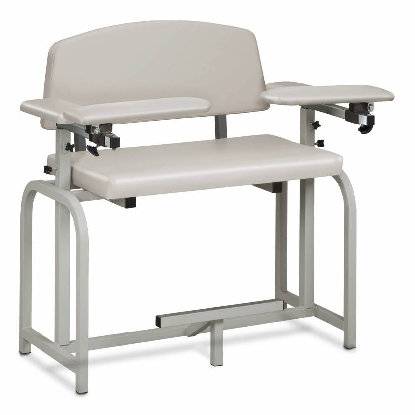 Clinton Lab X Series Extra-Wide Extra-Tall Blood Drawing Chair with Padded Arms Model 66099
