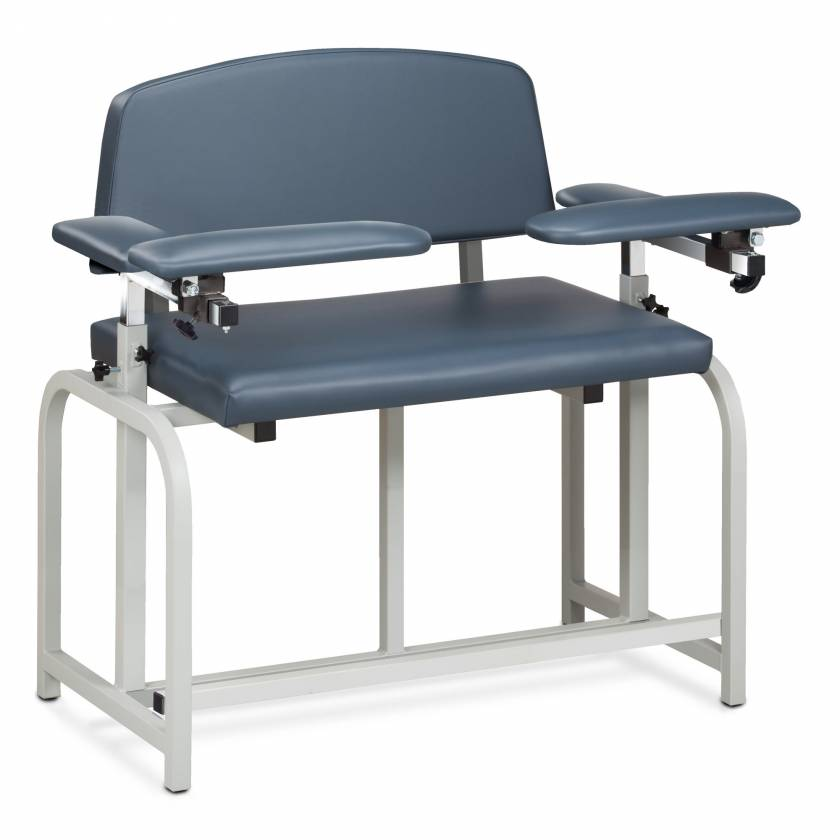 Clinton Lab X Series Bariatric Extra-Tall Blood Drawing Chair with Padded Arms Model 66099B