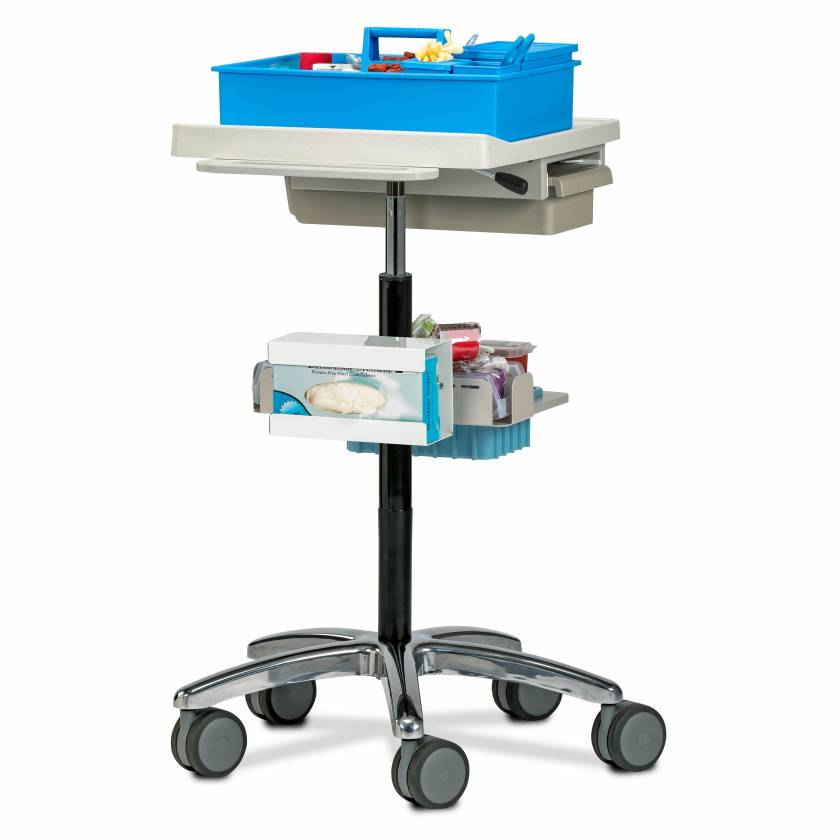 Clinton 67002 Phlebotomy Store & Go Cart (Tray pictured on top and all supplies shown not included)