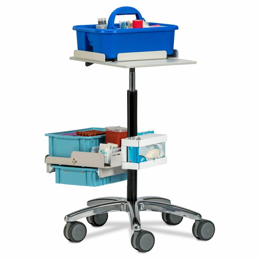 Clinton 67031 Phlebotomy Store & Go Cart (Tray pictured on top and all supplies shown not included)
