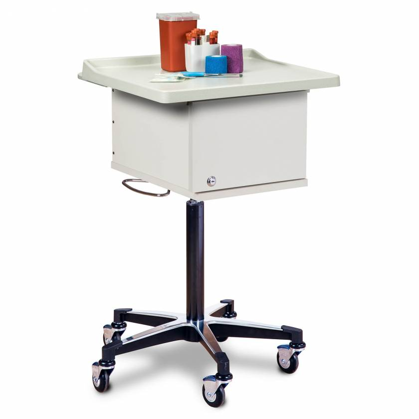Clinton 67200 Phlebotomy Cart with Two-Bin (Supplies not included)