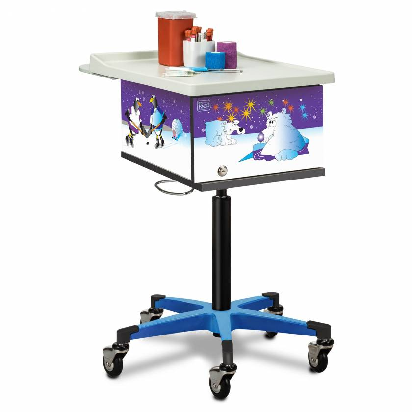 Clinton 67231 Pediatric Phlebotomy Cart - Cool Pals Graphics
