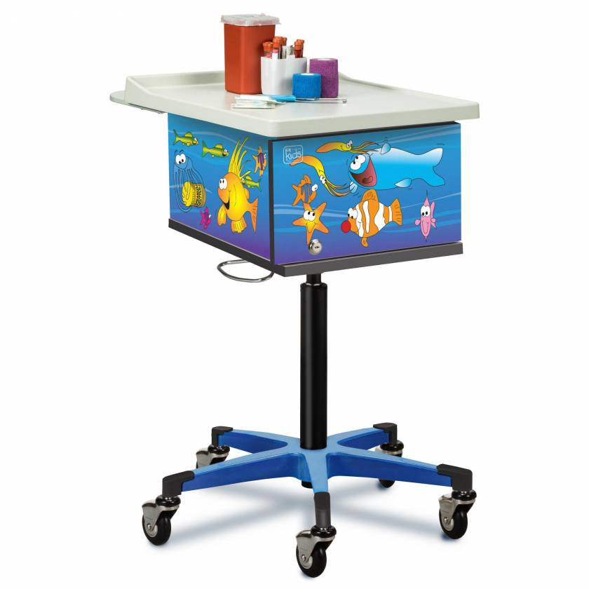Clinton 67236 Pediatric Phlebotomy Cart - Ocean Commotion Graphics