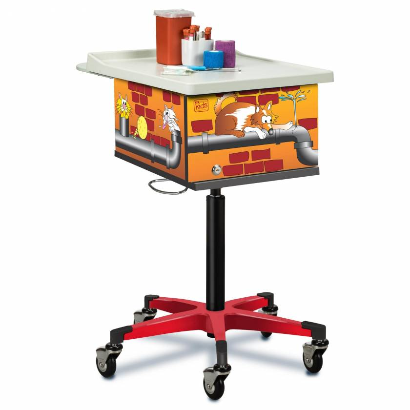 Clinton 67237 Pediatric Phlebotomy Cart - Alley Cats & Dogs Graphics