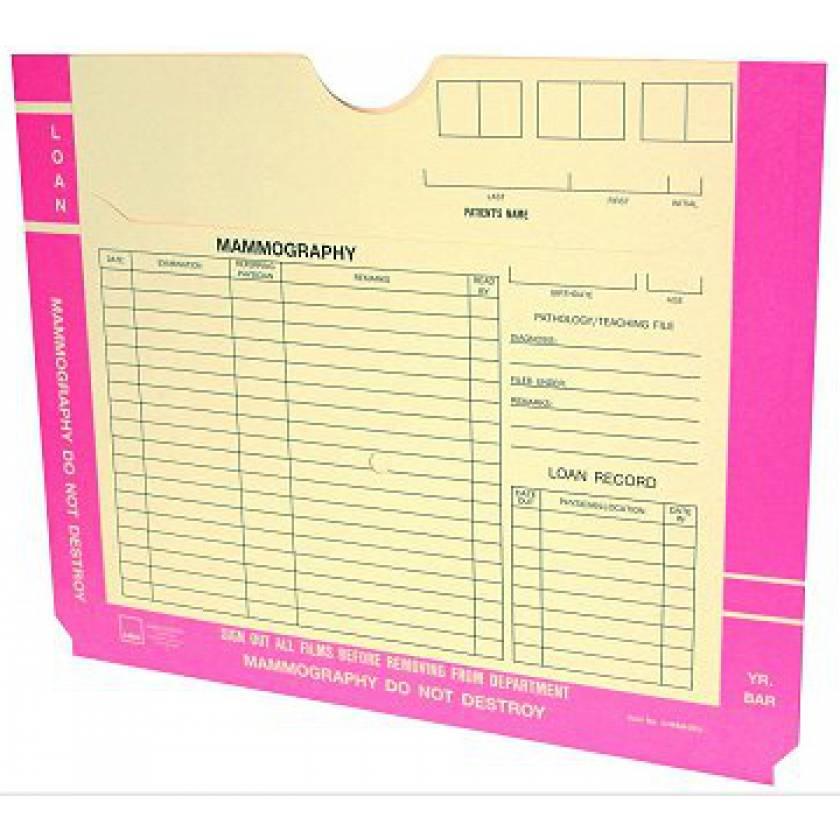 Mammography File Jacket - Pink Border