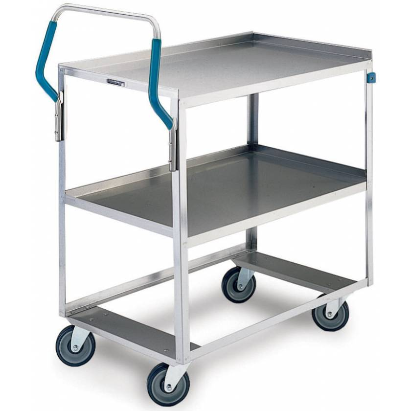 Lakeside Ergo-One Stainless Steel Utility Carts - 500 lbs Capacity - All Swivel Casters