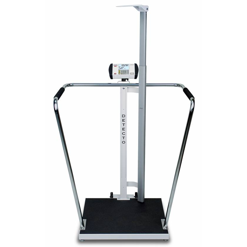 "Bariatric Digital Scale with Digital Height Rod - 1000 lb Capacity - 24"" x 24"" Platform"