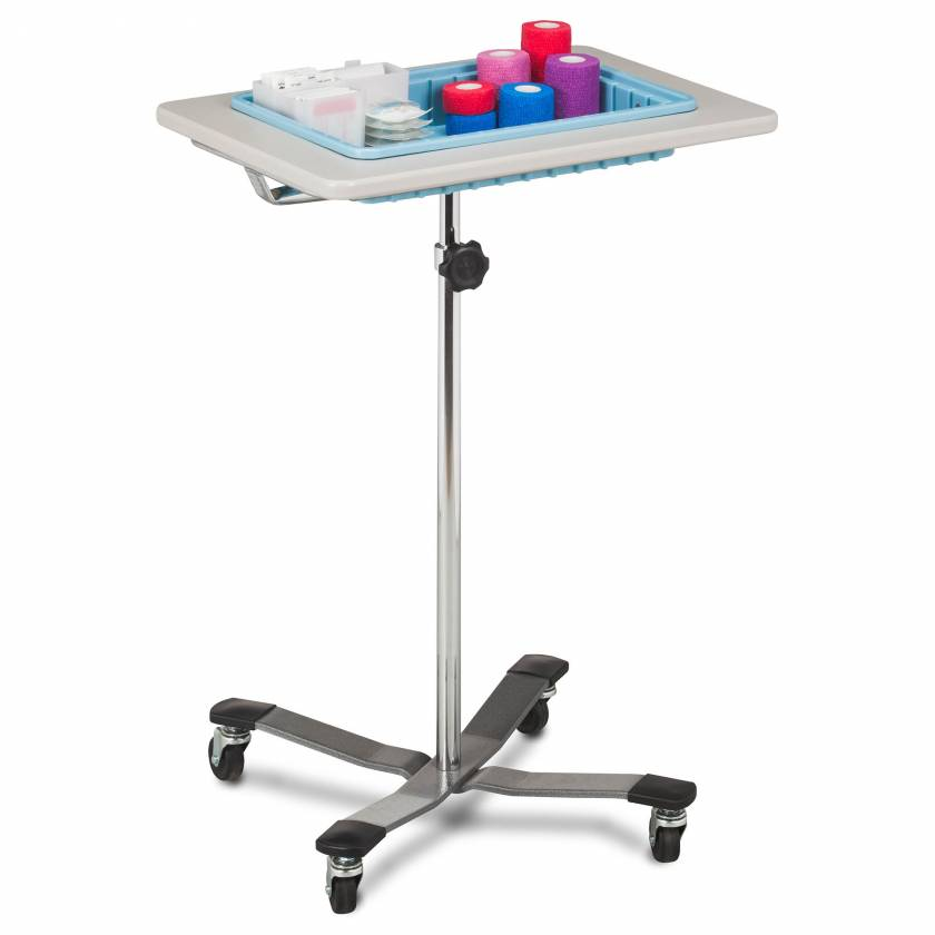 Clinton 6901 Mobile Phlebotomy Stand with One-Bin