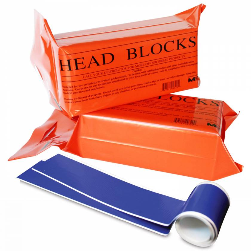 Morrison Medical 0322 Disposable Foam Head Blocks with Head/Chin Straps