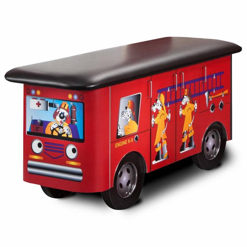 Clinton Model 7030 Fun Series Pediatric Treatment Table - Engine K-9 with Dalmatian Firefighters