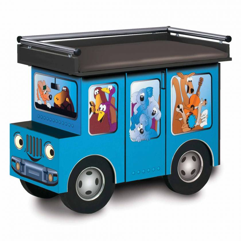 Clinton Model 7040 Fun Series Pediatric Treatment Table - Outback Buggy with Aussie Animal Pals