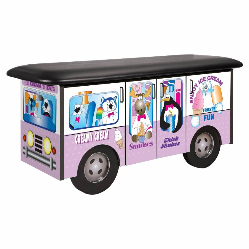 Clinton Model 7070 Fun Series Pediatric Treatment Table - Frosty Friends Ice Cream Truck