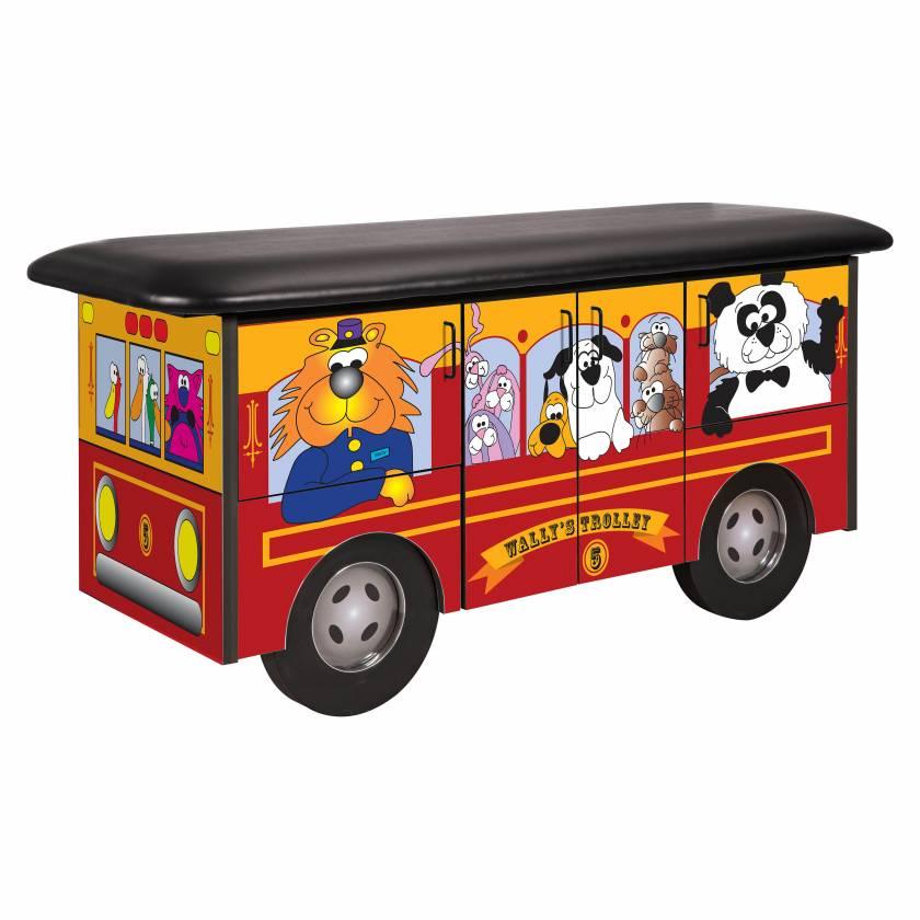 Clinton Model 7080 Fun Series Pediatric Treatment Table - Wally's Trolley