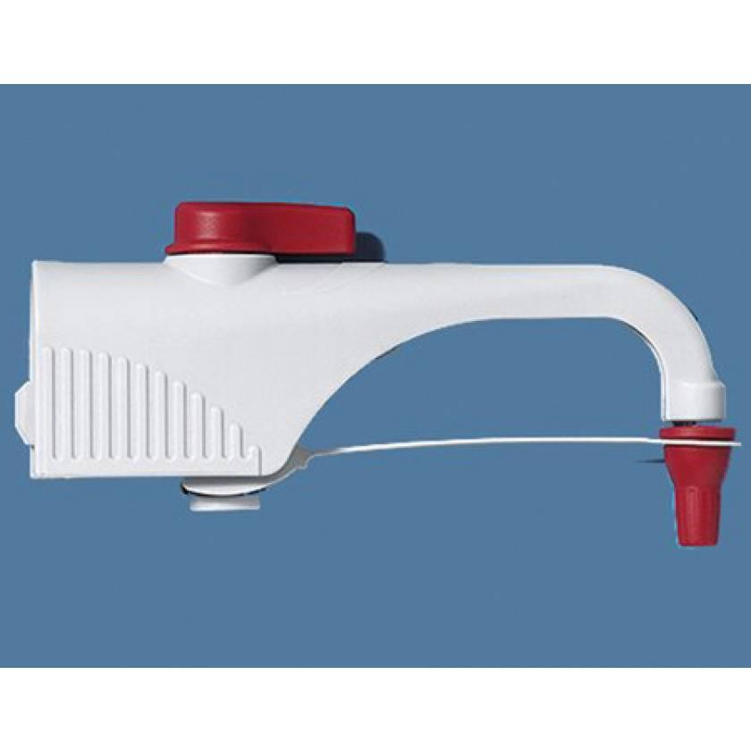 Discharge Tube with Recirculation Valve for BrandTech Dispensette S Bottletop Dispenser PP Red Cap