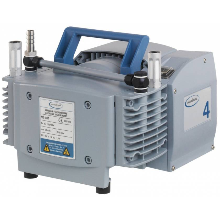 BrandTech VACUUBRAND ME4 NT Diaphragm Vacuum Pump 120V 50-60Hz