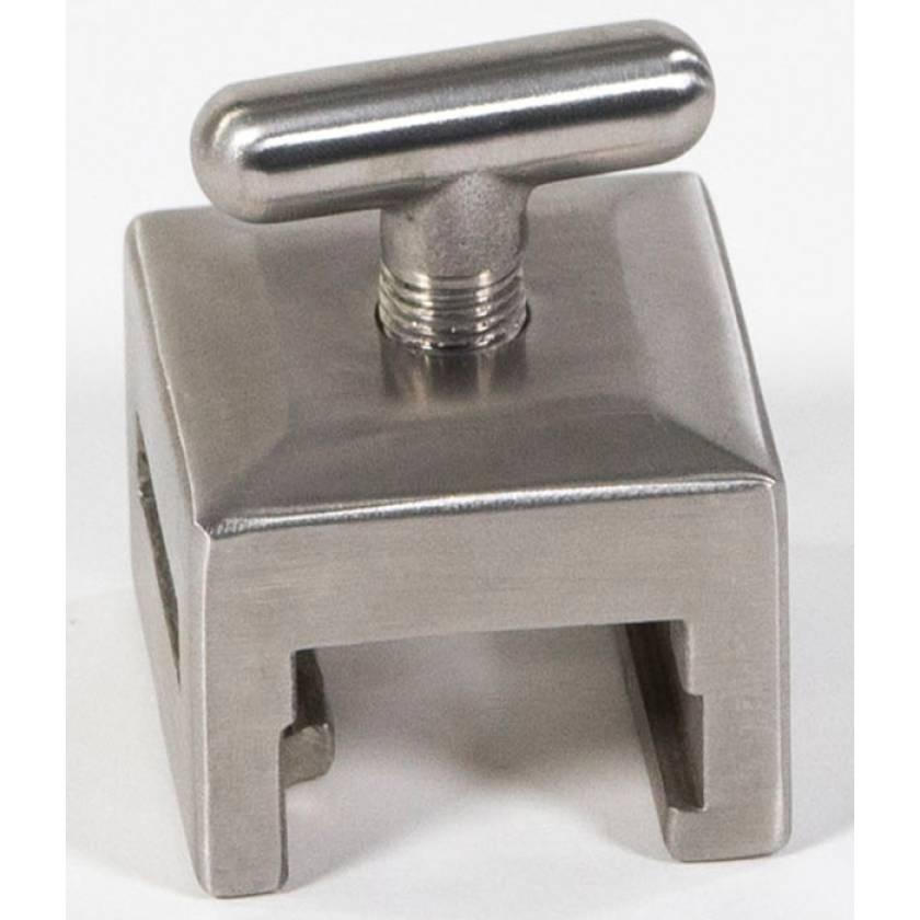 "Stainless Steel Basic Side Rail Socket - Fits Rectangular Post - Fits 1"" x 1/4"" Blade"