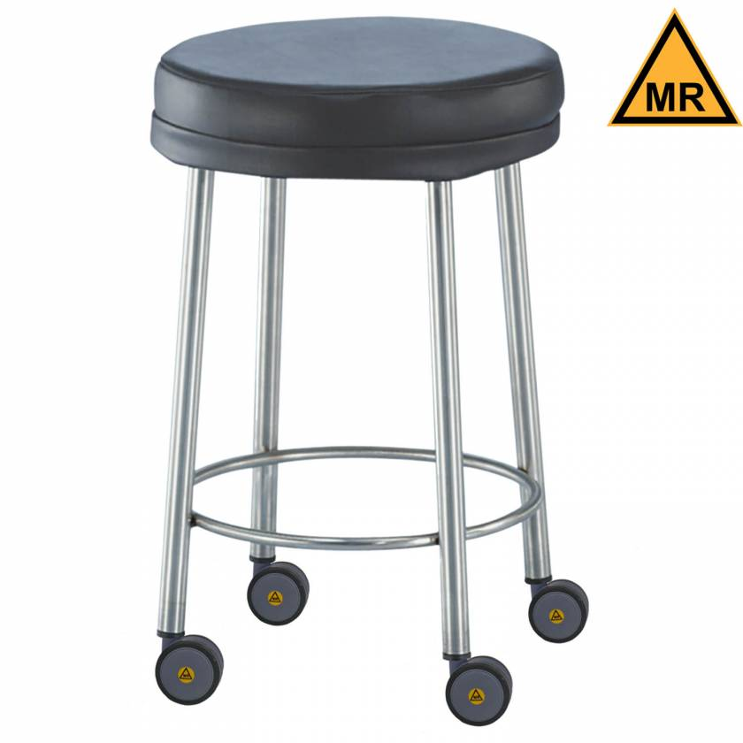 Non-Magnetic Padded Stools with MR Casters