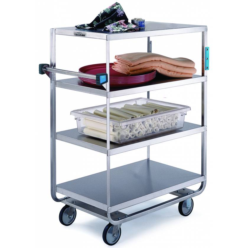 Lakeside SS Heavy Duty Multi-Shelf Cart - 3 Edges Up 1 Down
