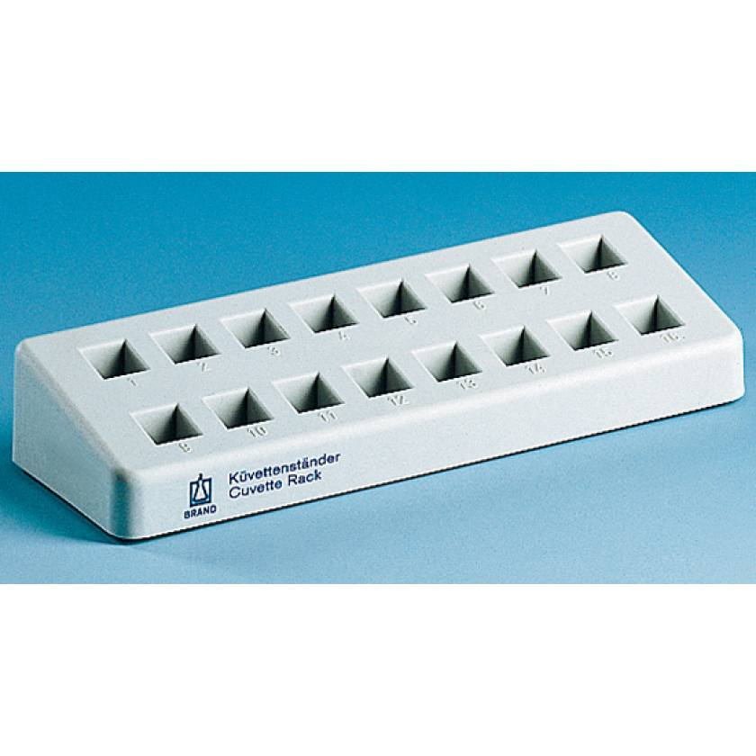 BrandTech Cuvette Rack with 16 Numbered Positioned