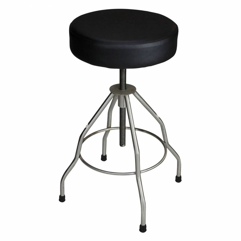 Blickman Model 7714-PSS Stainless Steel Adjustable Passaic Stool with Rubber Feet