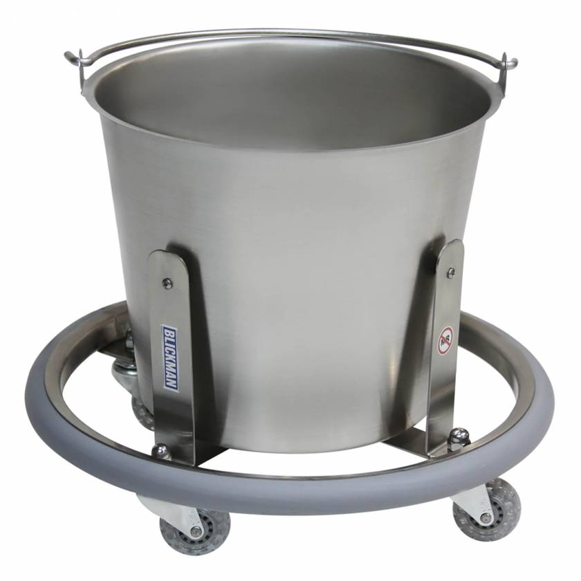 Blickman Model 7766SS Stainless Steel Lenox Kick Bucket with 13 Qt. Pail