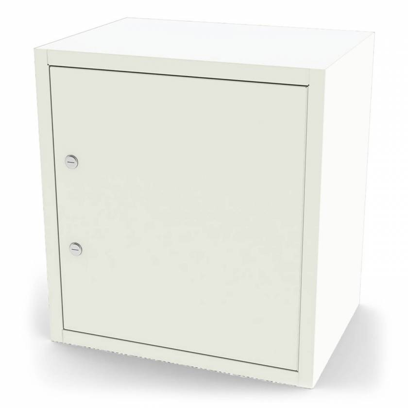 """Model 7785 Large Painted Steel Narcotic Cabinet, Single Door, Double Lock, 5 Shelves - 20.25"""" H x 8.625"""" W x 13.625"""" D"""