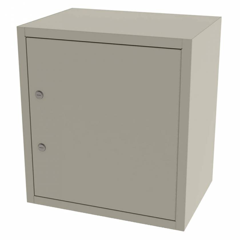 "Model 7785 Large Painted Steel Narcotic Cabinet, Single Door, Double Lock, 5 Shelves - 20.25"" H x 8.625"" W x 13.625"" D"
