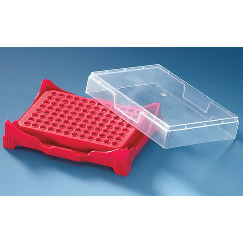 BrandTech PCR Rack with Locking Lid (Assorted Colors)