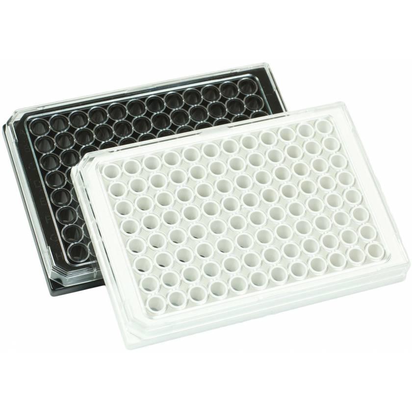 BRANDplates cellGrade Plus Treated Sterile Surface 96-Well Plates 782031 Black, Transparent F-Bottom 782030 White, Transparent F-Bottom