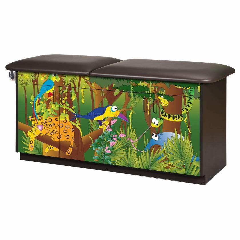 Clinton Model 7932 Imagination Series Rainforest Follies Pediatric Treatment Table with Adjustable Backrest