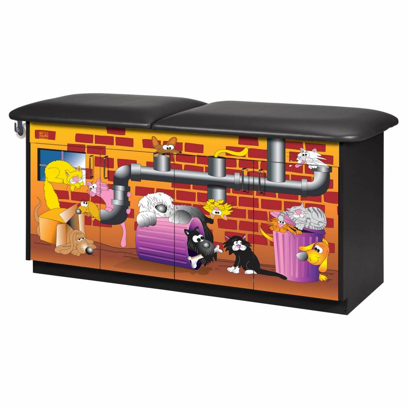 Clinton Model 7937 Imagination Series Alley Cats and Dogs Pediatric Treatment Table