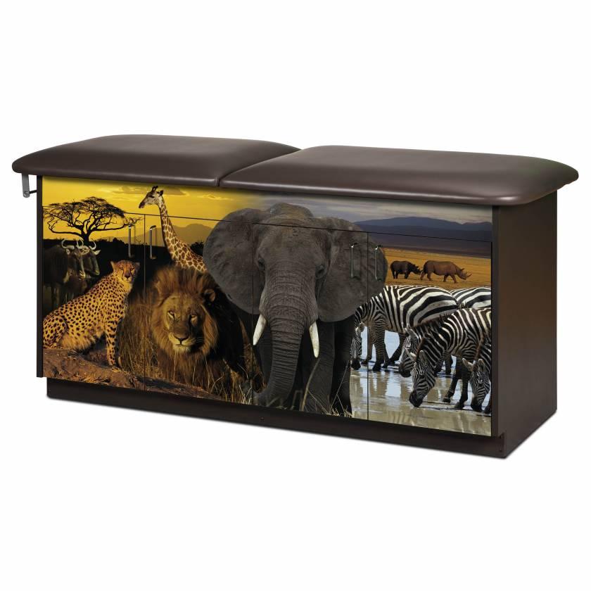 Clinton Model 7940 Adventure Series Safari Pediatric Treatment Table with Adjustable Backrest