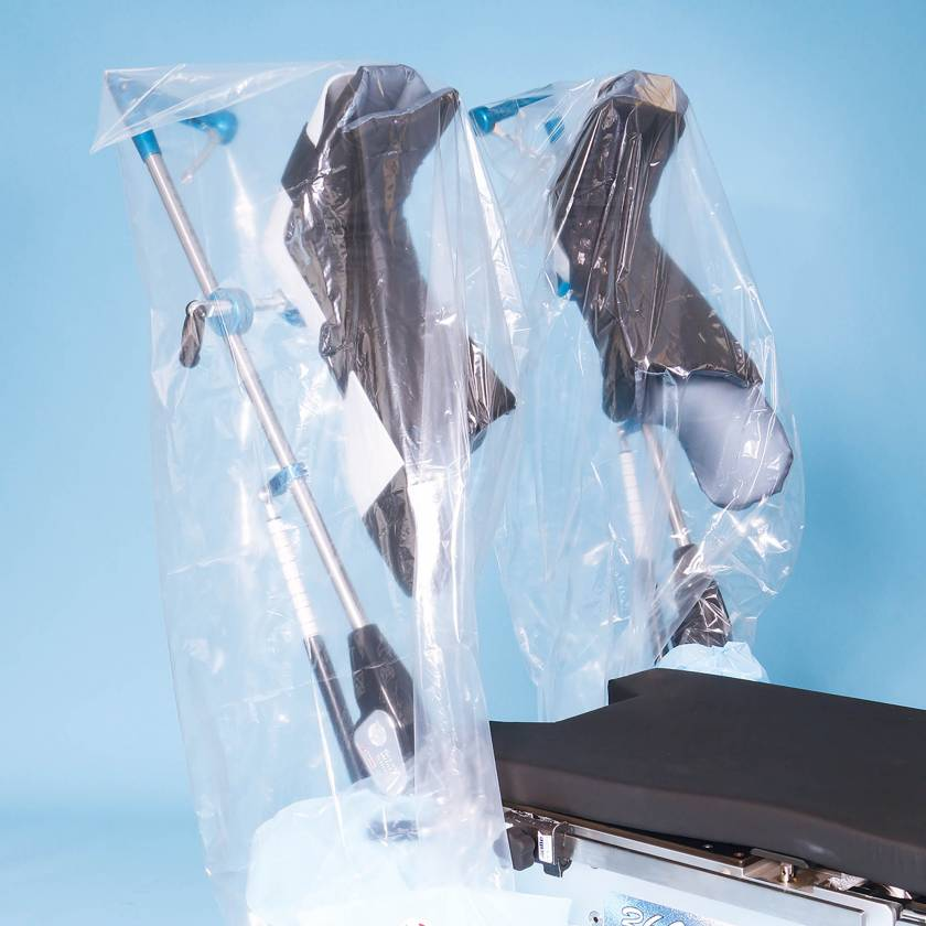 SchureMed 800-0160 Disposable Clear View Leg Drape (Stirrups are for display purpose only)
