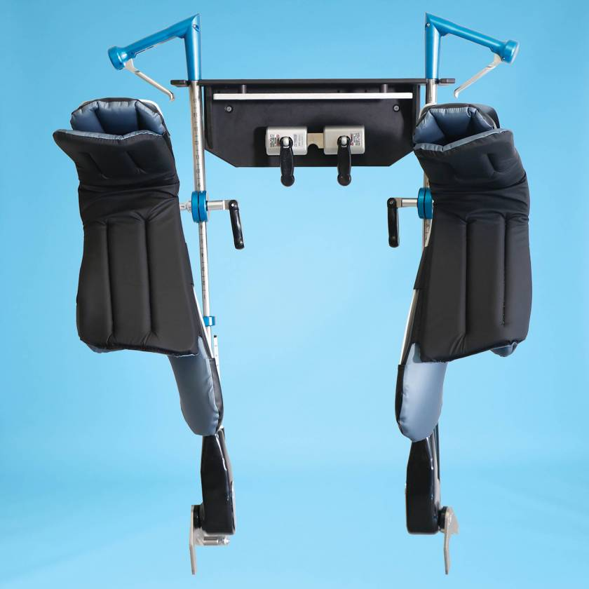 SchureMed 800-0284 Stirrup Wall Rack (Stirrups, Boot Pads, and Table Clamps shown are for display purposes only)