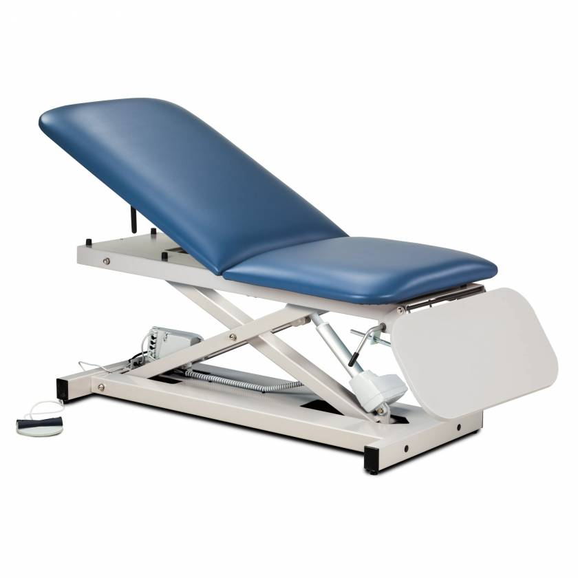 Clinton Model 80350 Open Base Power Casting Table with Adjustable Backrest & Laminate Leg Rest