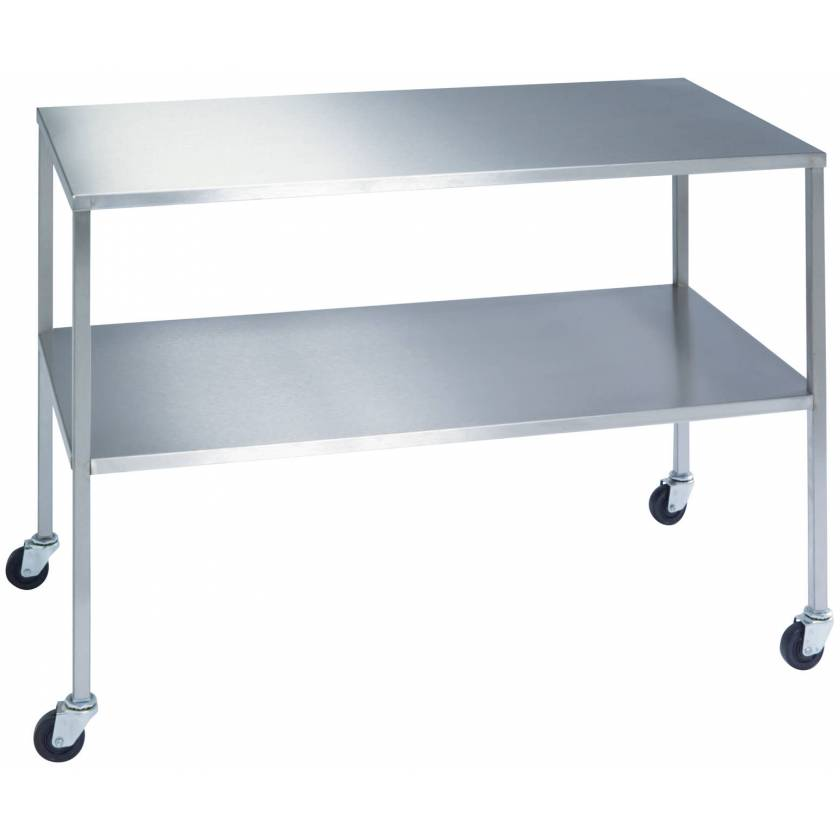 Lakeside Stainless Steel Instrument Table with Shelf