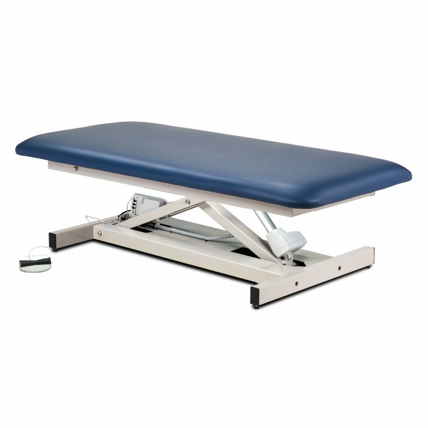 Clinton Model 84100 Extra Wide Open Base Bariatric Straight Top Power Table