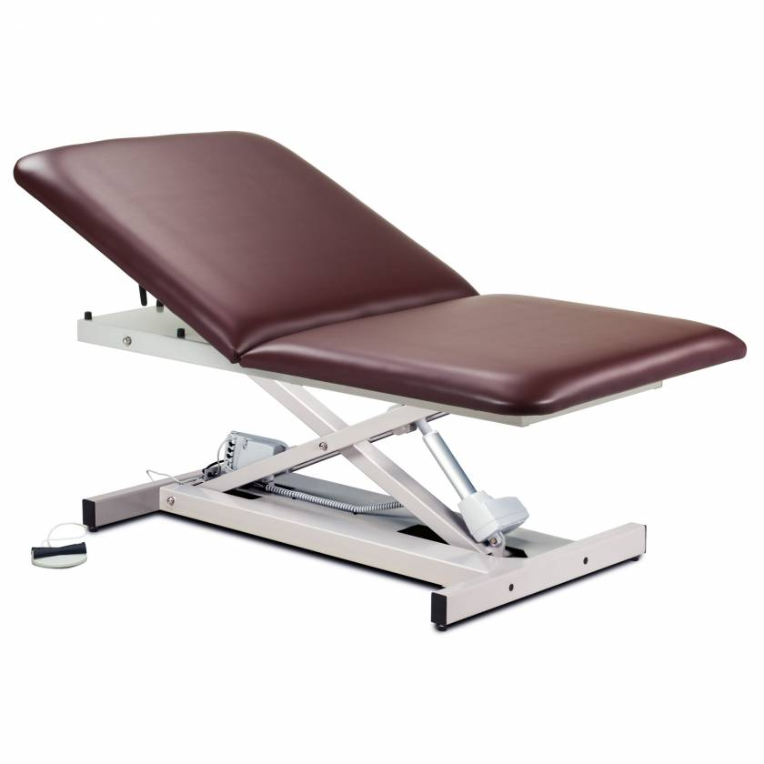 Clinton Model 84200 Extra Wide Open Base Bariatric Power Table with Adjustable Backrest