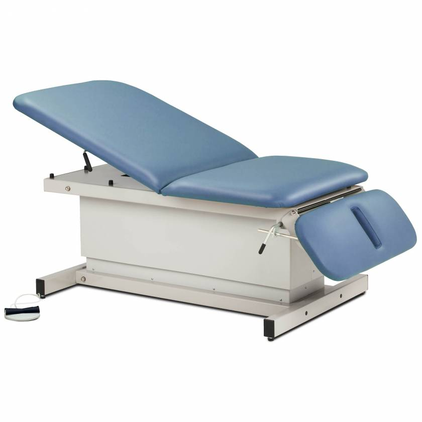 Clinton Model 84438 Extra Wide Bariatric Shrouded Power Table with Adjustable Backrest & Drop Section