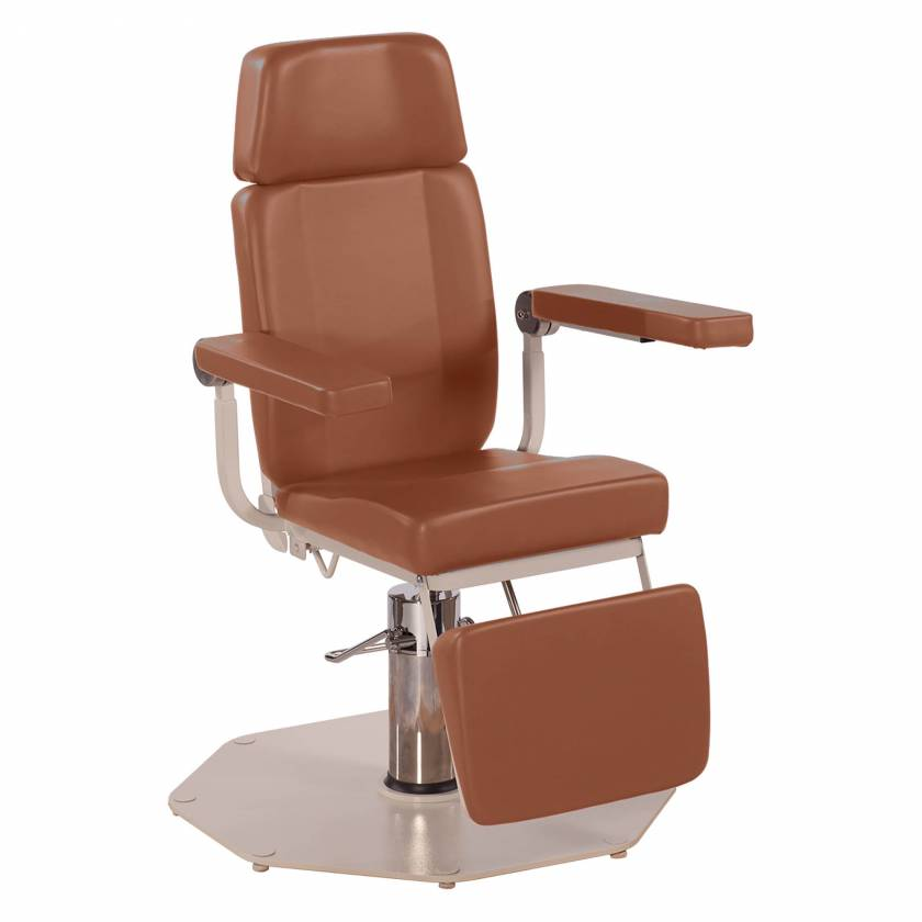 Model 8612 ENT Chair with Foot Operated Pump - Adobe (shown with option Articulating Headrest)