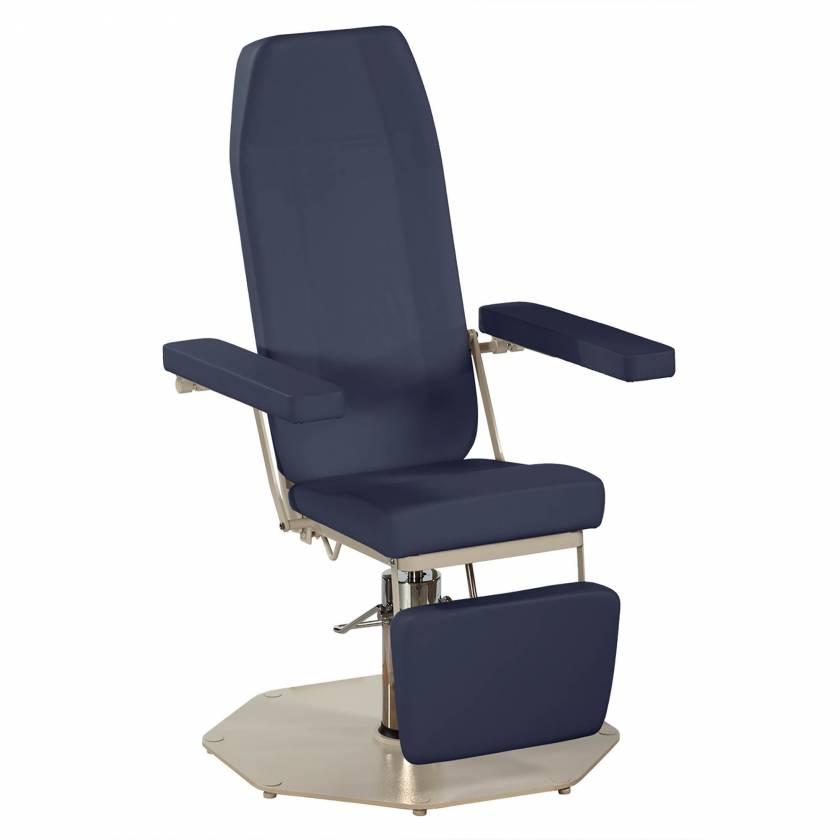 UMF Model 8675 Manual Adjustment Phlebotomy Chair - Midnight Blue