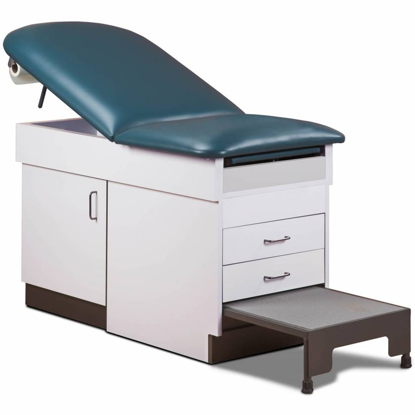 Clinton 8844 Cabinet Style Space Saver Treatment Table with Step Stool